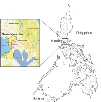 Maynilad's Service Area in the Philippines