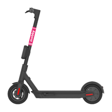 <An example of mobby ride's micro-mobility product : e-scooter>